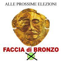faccia di bronzo vota