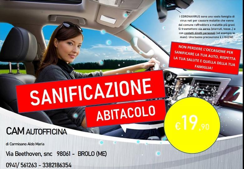 A BROLO – Alla CAM la sanificazione dell'abitacolo dell'auto. Ottima scelta in tema di Coronavirus