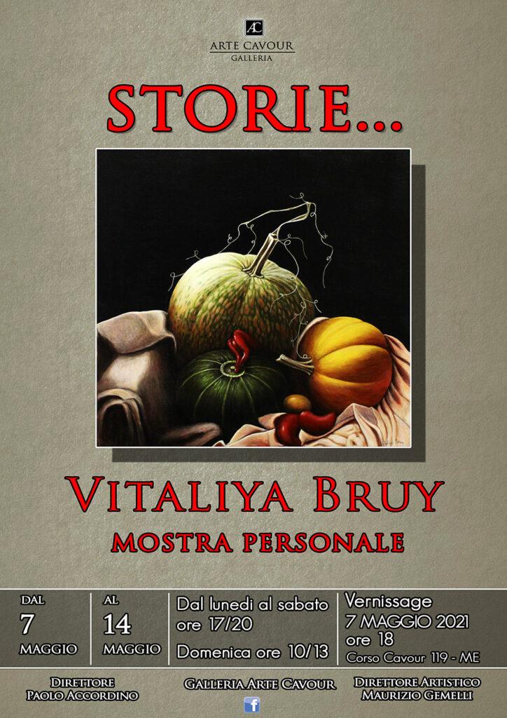 """MOSTRA – """"Storie…"""" la personale di Vitaliya Bruy alla Galleria Arte Cavour"""